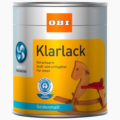 OBI Klarlack Transparent seidenmatt 125 ml