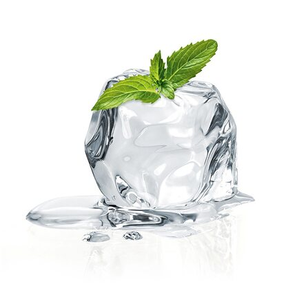 Eurographics Glasbild Mint Ice Cube 20 cm x 20 cm