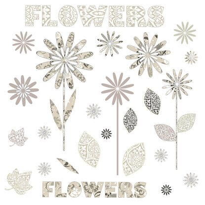 Eurographics Fenstersticker Pattern Flowers