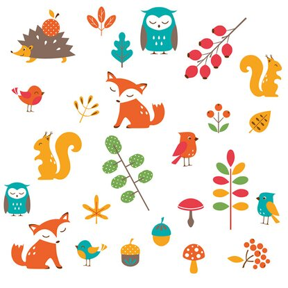 Eurographics Fenstersticker Cute Forest Animals