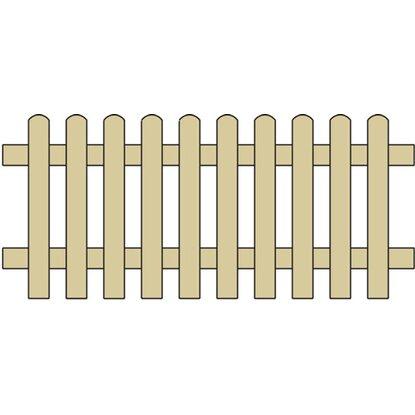 staketenzaun gerade druckimpr gniert 180 cm x 80 cm gr n kaufen bei obi. Black Bedroom Furniture Sets. Home Design Ideas