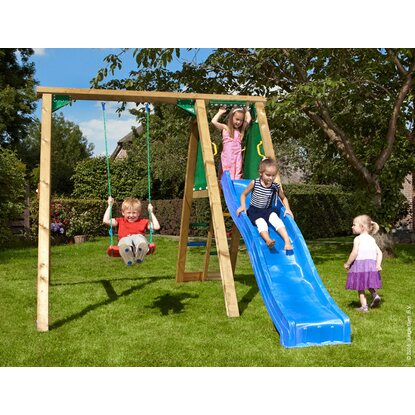 Jungle Gym Schaukel Peak mit Rutsche Blau
