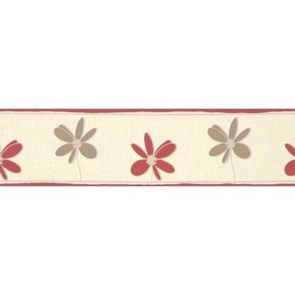 A.S. Creation Borte Blumen Rot-Braun