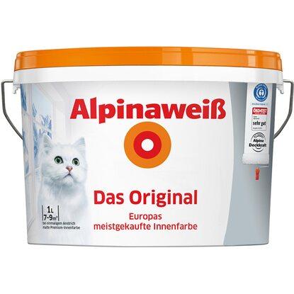 Wandfarbe Weiß alpinaweiß wandfarbe das original weiß matt 1 l kaufen bei obi