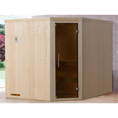 Weka Element-Ecksauna 508 OS Set Gr. 3 mit Glastür