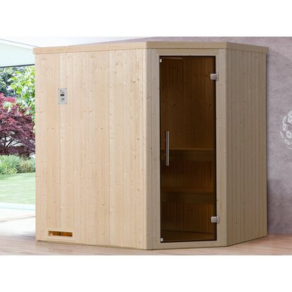 Weka Element-Ecksauna 508 K Set Gr. 2 mit Glastür