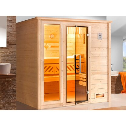 Weka Massivholz-Sauna Colour Edition 530 OS Set Gr. 3 mit Fensterelement
