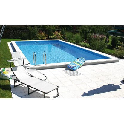 Summer fun styropor pool set einbaubecken lugano 700 cm x for Obi skimmer