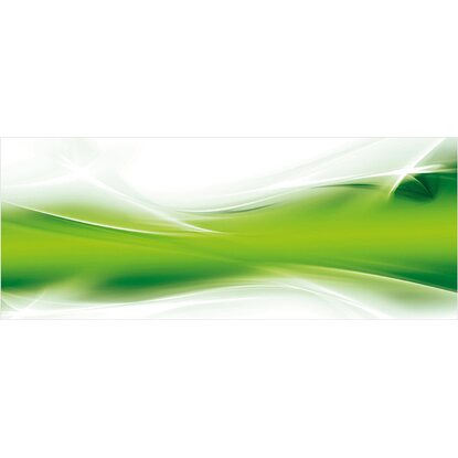 Eurographics Deco Glass Green Stream 125 cm x 50 cm
