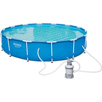 Bestway stahlrahmen pool set 427 cm x 84 cm kaufen bei obi for Bestway pool folie