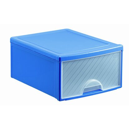 Frontbox mit 1 Schublade Blau-Transparent
