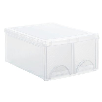 Frontbox mit 2 Schubladen Transparent