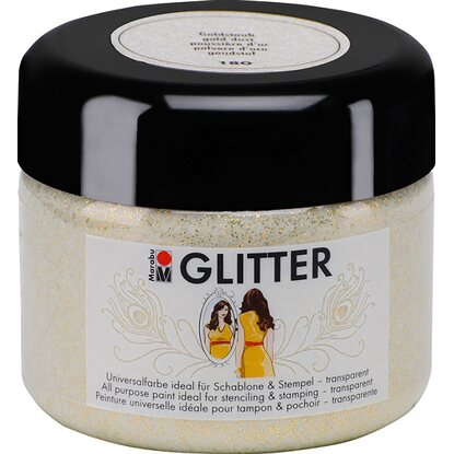 Marabu Glitter transparent 225 ml Goldstaub