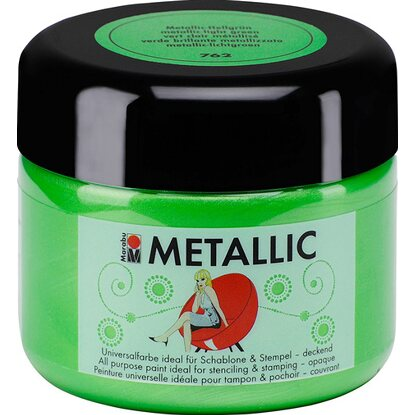 Marabu Metallic deckend 225 ml Metallic-Hellgrün