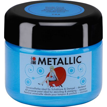 Marabu Metallic deckend 225 ml Metallic-Petrol