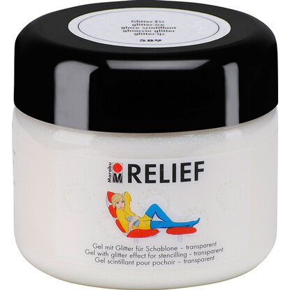 Marabu Relief Gel mit Glitter transparent 225 ml Glitter-Eis