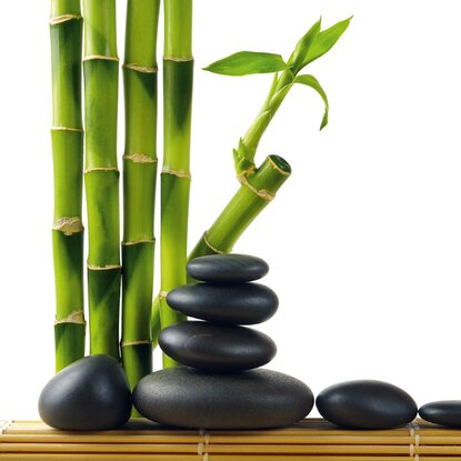 Eurographics Deco Glass Lucky Bamboo 30 cm x 30 cm