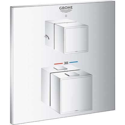 Grohe Thermostat-Brausebatterie 2-Wege-Umstellung Grohtherm Cube Chrom