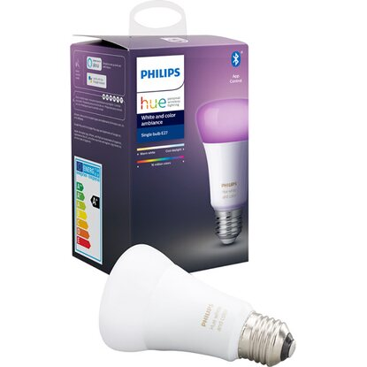 Philips Hue White & Color LED-Lampe E27 Einzelpack 9,5 W Bluetooth EEK: A+