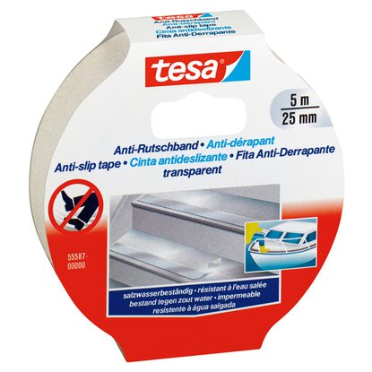 Tesa Anti-Rutschband Transparent 5 m x 25 mm