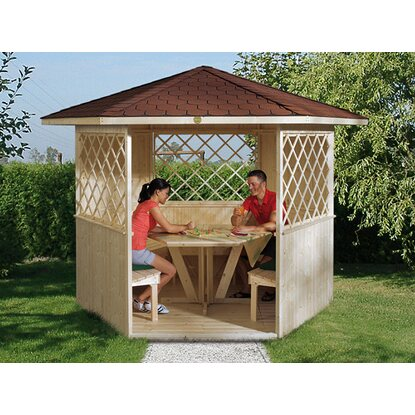 weka holz pavillon mainau natur unbehandelt 223 cm x 257 cm kaufen bei obi. Black Bedroom Furniture Sets. Home Design Ideas