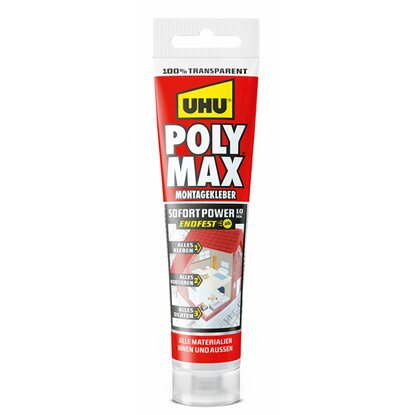 UHU Poly Max Montagekleber Sofort Power 10 Sek.  115 g
