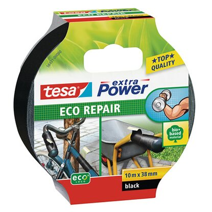Tesa Extra Power Eco Repair Schwarz 10 m x 38 mm