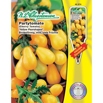 Partytomate Yellow Pearshaped Gelb