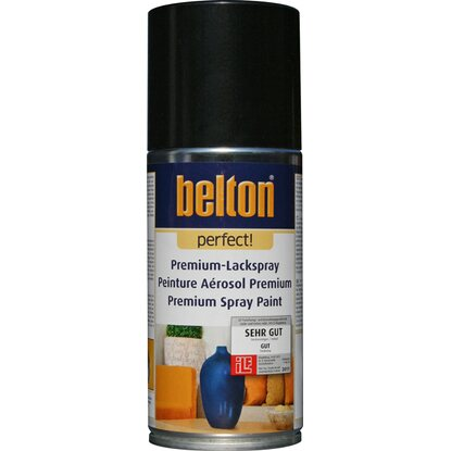 Belton Perfect Premium-Lackspray Schwarz seidenmatt 150 ml