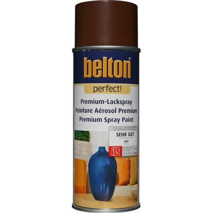 Belton Perfect Premium-Lackspray Dunkelbraun seidenmatt 400 ml
