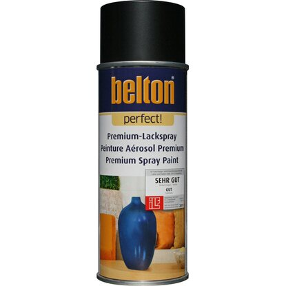 Belton Perfect Premium-Lackspray Schwarz seidenmatt 400 ml