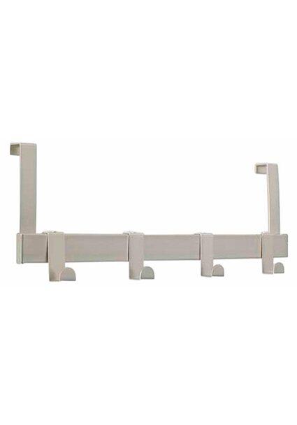 Türgarderobe Metall Vernickelt Matt 13,9 cm x 40,4 cm x 5,1 cm