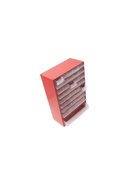 Kleinteilemagazin Stahl 39 Schubfächer Rot