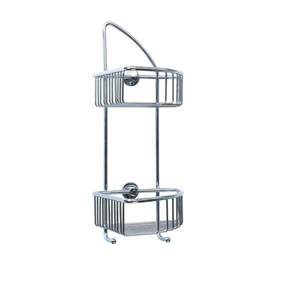 nie wieder bohren eckduschkorb draad dk210 messing verchromt im obi online shop. Black Bedroom Furniture Sets. Home Design Ideas