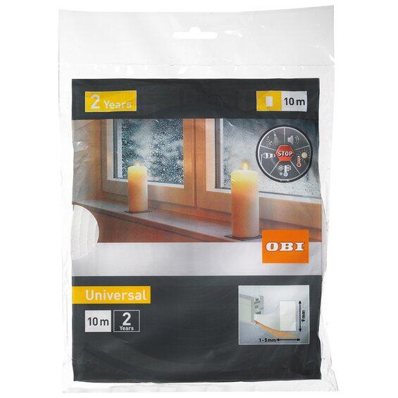 obi t r und fensterdichtung aus schaumstoff wei im obi online shop. Black Bedroom Furniture Sets. Home Design Ideas