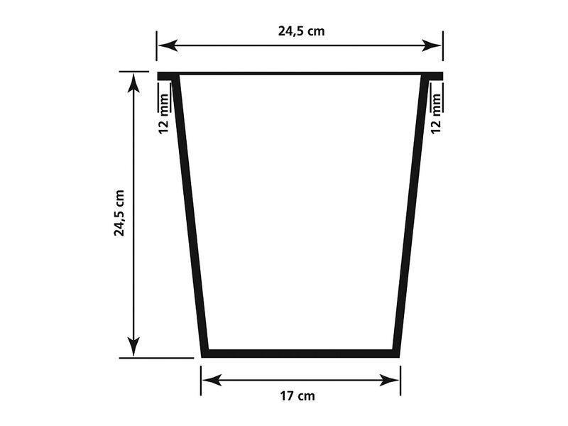Gartenfreude Raumteiler Pflanzkübel Polyrattan 76 cm x 26 cm ...