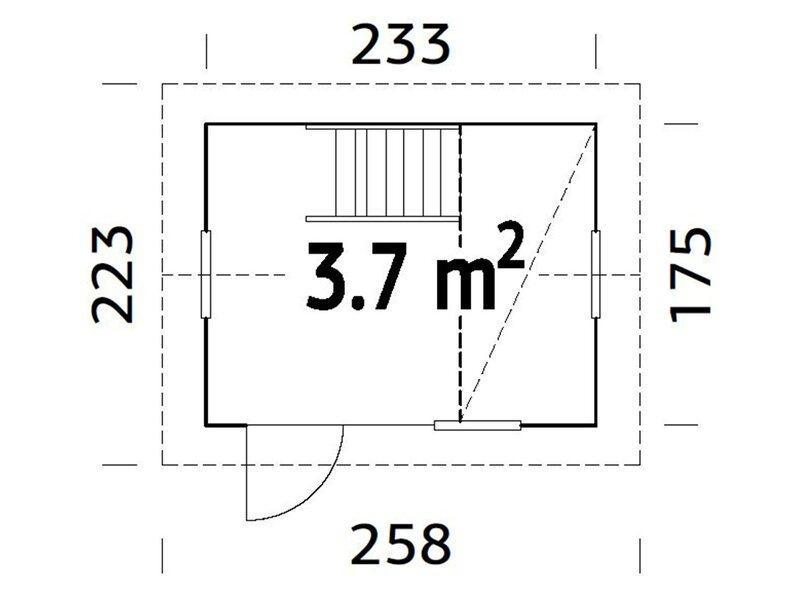 Palmako Spielhaus Grete 220 cm x 258 cm x 223 cm kaufen bei OBI
