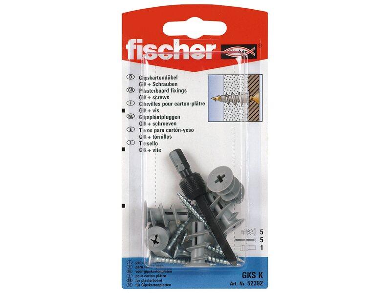 Fischer Gipskartondübel GKS K mit Schraube (5 ST)