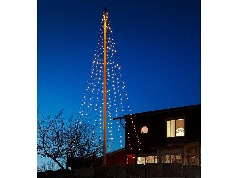 Weihnachtsbeleuchtung Schneemann Außen.Led Lichterkette Eco Light Für Den Fahnenmast 400 Warmweiße Leds Innen Und Außen
