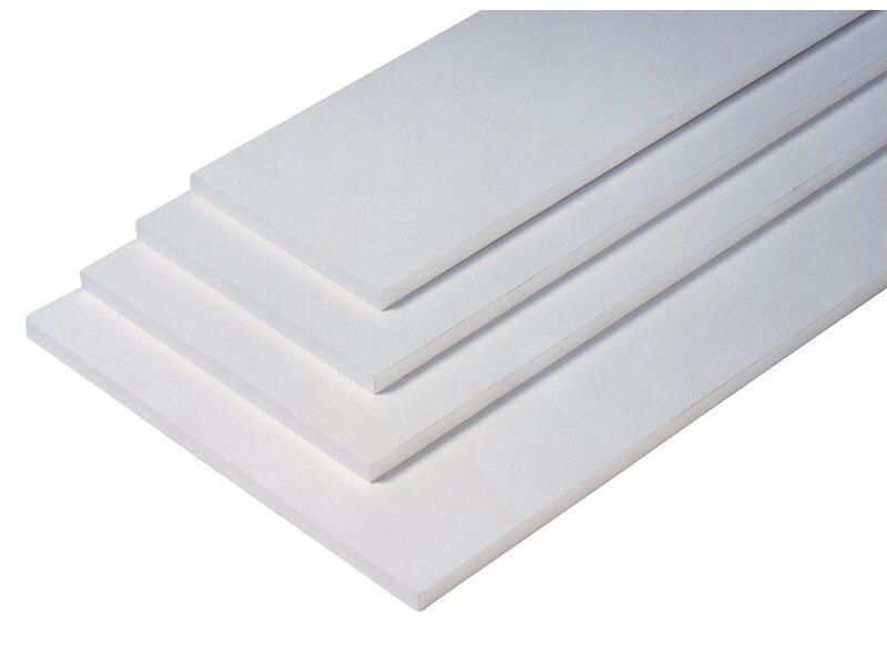 OBI Regalboden Eckig Weiß Hochglanz 2 cm x 80 cm x 20 cm
