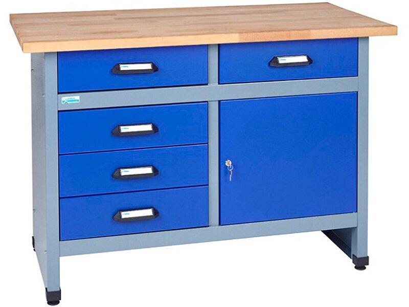 k pper werkbank 1 t r 5 schubladen 1200 mm breit kaufen bei obi. Black Bedroom Furniture Sets. Home Design Ideas