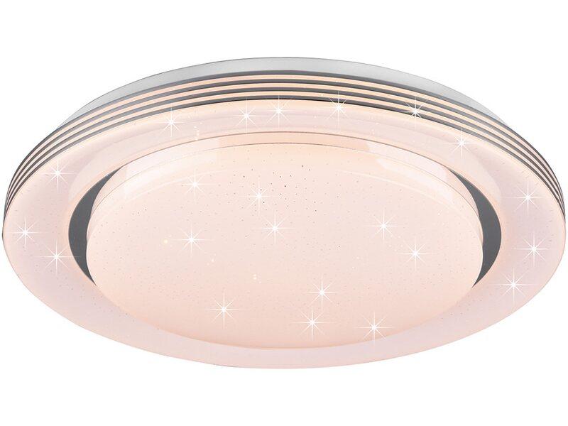 LED Deckenleuchte flach weiß Näve Frisbee 40cm 1700lm 3000K