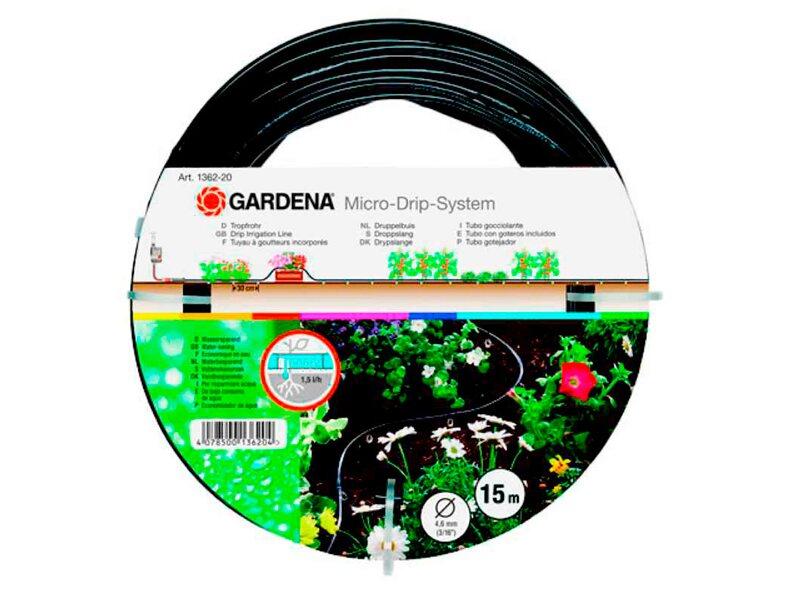 gardena tropfrohr oberirdisch 4 6 mm 3 16 15 m kaufen bei obi. Black Bedroom Furniture Sets. Home Design Ideas