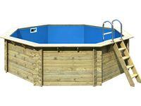 Karibu pool set 2 a 470 cm x 470 cm x 124 cm inkl zubeh r for Pool skimmer obi