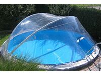 Summer fun pool berdachung cabrio dome f r pools 350 cm for Obi poolfolie