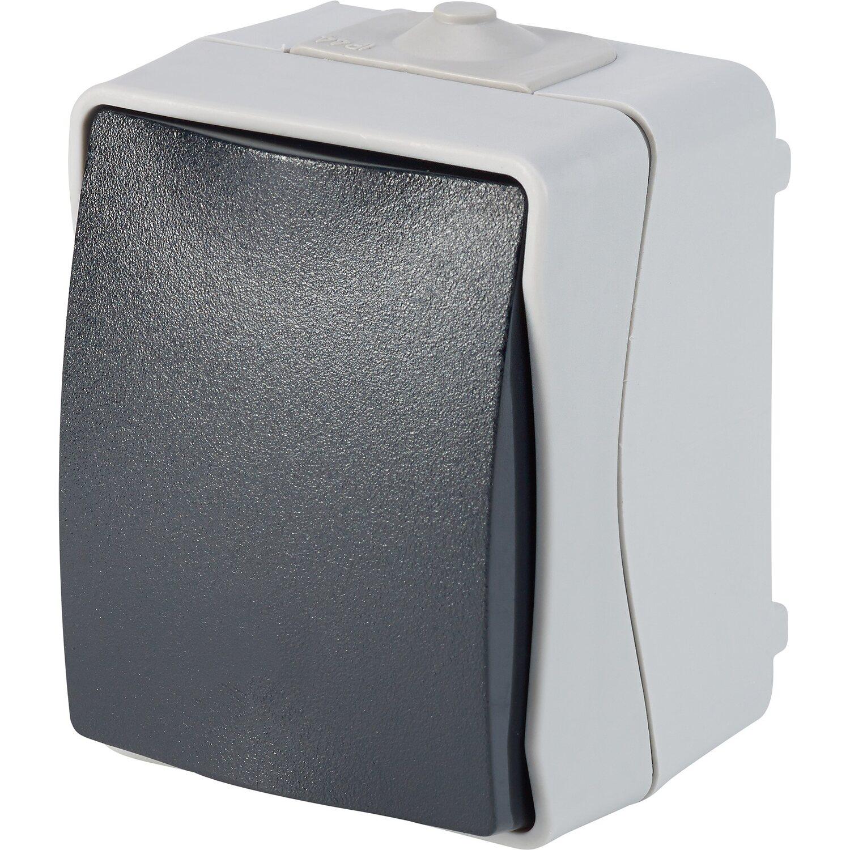 Feuchtraum Taster IP44 Grau