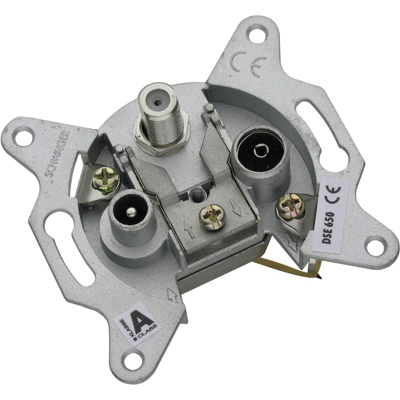 Schwaiger Antennensteckdose 3-Loch