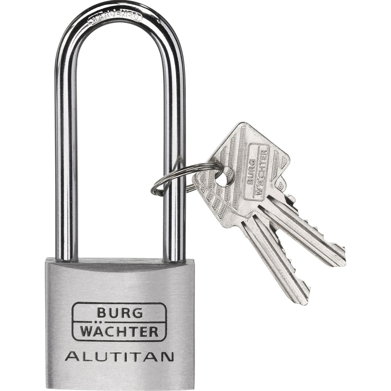 2 Schlüsseln NEU Burg-Wächter Vorhängeschloss Vorhangschloss 124 40 SB  m
