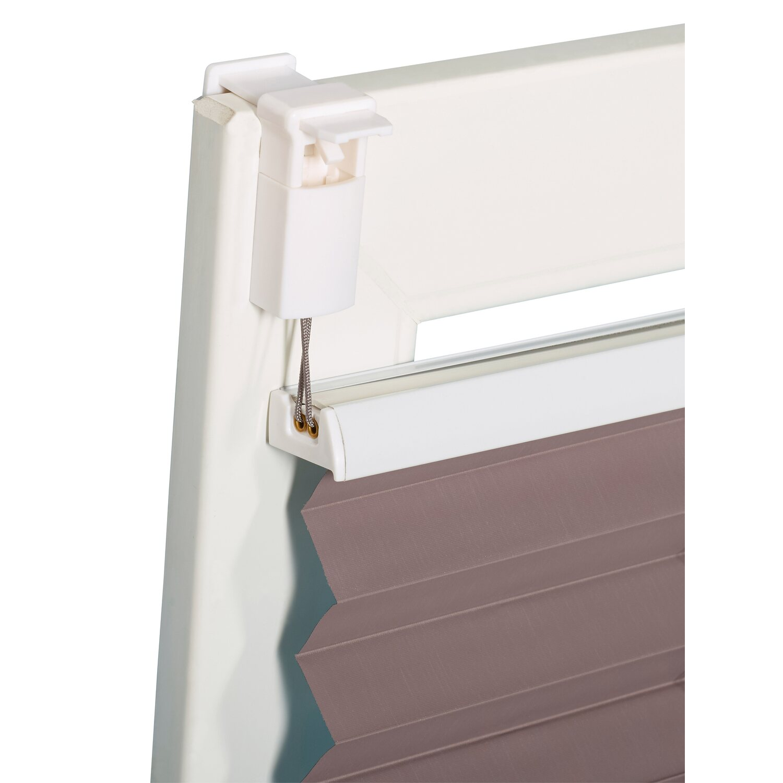 obi verspanntes thermo plissee tona 45 cm x 130 cm grau kaufen bei obi. Black Bedroom Furniture Sets. Home Design Ideas