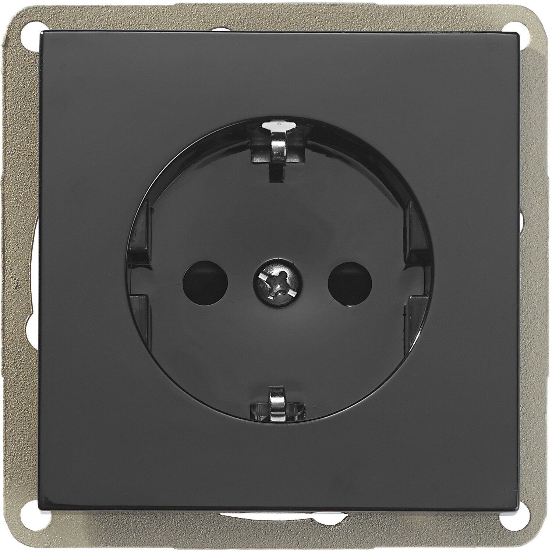 obi schutzkontakt steckdose toro schwarz kaufen bei obi. Black Bedroom Furniture Sets. Home Design Ideas